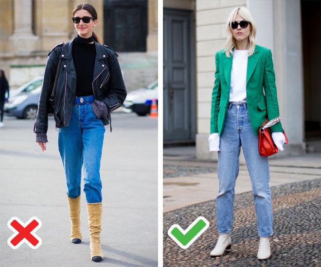 """Результат пошуку зображень за запитом """"Заправлять джинсы свободного кроя в высокие сапоги"""""""