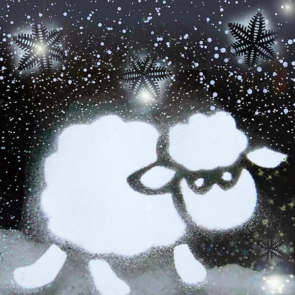 новогодний рисунок сахарной пудрой на оконном стекле фото