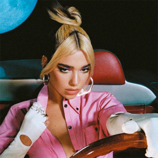 Дуа Липа двухцветное окрашивание на средние волосы фото