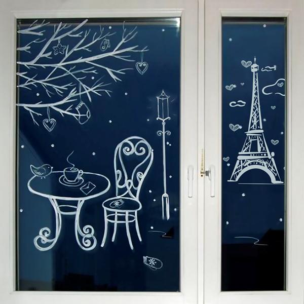 Рисуем на окнах зубной пастой картинки